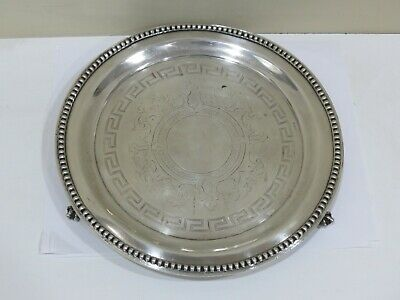 Antique 18th Century Sterling Silver Georgian Salver Tray