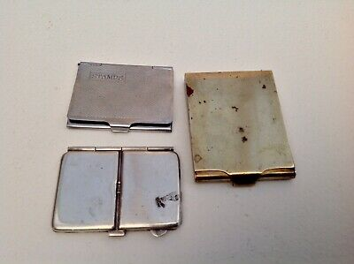 ANTIQUE EDWARDIAN ROGERS PATENT DOUBLE SILVER PLATED STAMP HOLDER & 2 Other Item