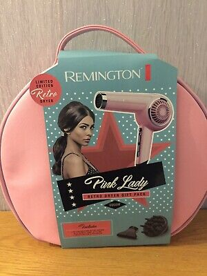 Remington Limited Edition Pink Lady 2000w Retro Hair Dryer Gift Set + Diffuser