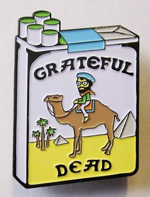 Grateful Smokes PIN Camel Pack Tobacco Cigarette Pun Dead Company Jerry Garcia