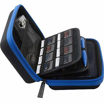 New Nintendo 2DS/3DS XL Carrying Case with 24 Game Holders & Stylus - Blue/Black