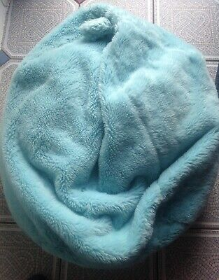 Bean Bag With Removable Cover Turquoise Blue Fluffy Furry