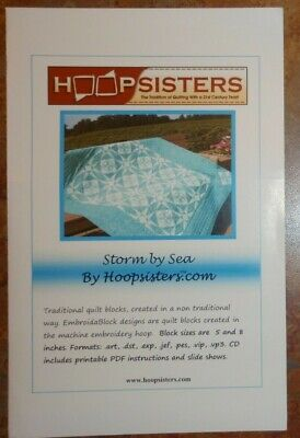 """Hoop Sisters Embroid-A-Block """"Storm By Sea"""" Embroidery Cd"""