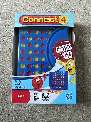 HASBRO Classic Connect 4 GAMES TO GO Travel Board Game Play Anywhere Camping NEW