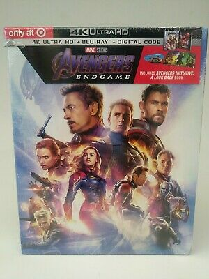 AVENGERS ENDGAME 4K BLU RAY TARGET DIGIBOOK EXCLUSIVE Brand New Sealed Dvd