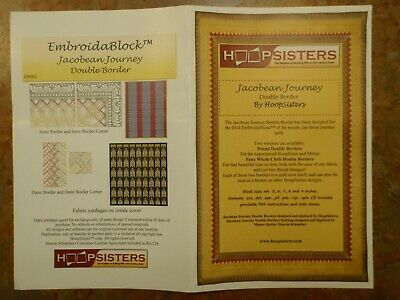 """Hoop Sisters Embroid-A-Block """"Jacobean Journey"""" Embroidery Cd Border Ony!!"""