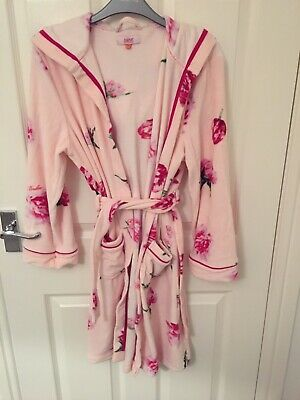 Ted Baker Girls Pink Floral Fleece Dressing Gown Age 8-9