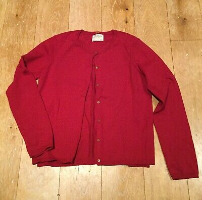 *Zara Girl's* Red Knitted Cardigan *New Without Tags* Age 13-14