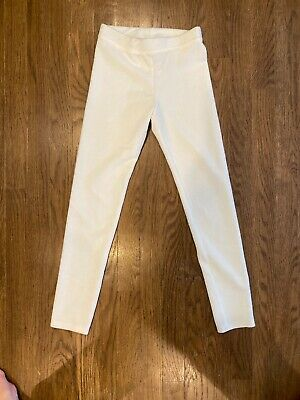 NEW J CREW Crewcuts Girl's Everyday Ribbed Leggings White Size 10