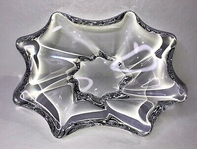 Baccarat Crystal Free Form Bowl Heavy Candy Trinket Dish Art Glass France