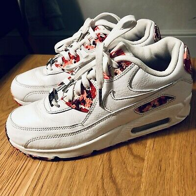 Nike Air Max 90 QS London Eton Mess Shoes White Red WMNS Womens Shoes 813150 100