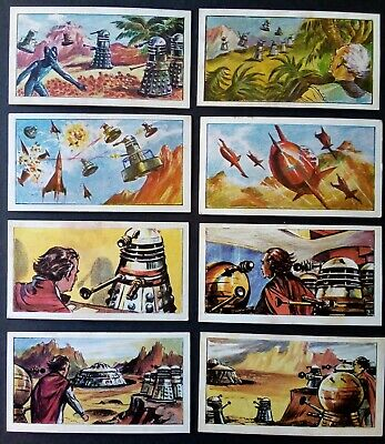 Dr Who & The Daleks - Cadet Sweets Trading Cards 1965 - Part Set of 18 cards.