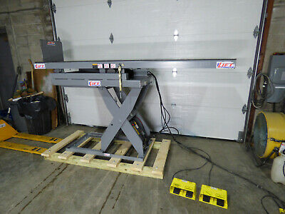 "3000lb Hydraulic Scissor Lift & Invert Table 30"" X 96"" 115 Volt Sharp #1"