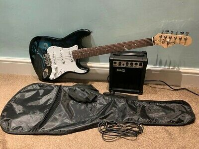 Jaxville Hades St Style Electric Guitar Pack With Amp Gig Bag Strings Strap