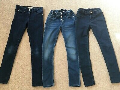 girls denim jeans skinny trousers bundle 9 yr