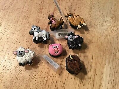 7 Cute Farm Wild Jungle Animals Authentic Crocs Jibbitz Shoe Charm