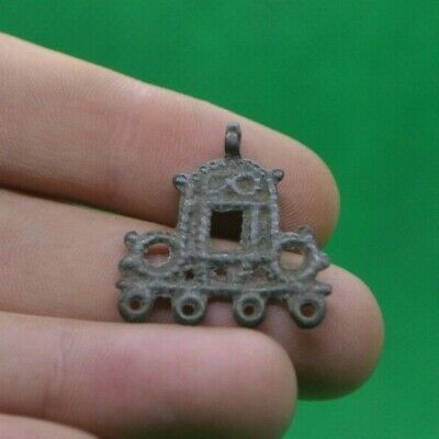 Superb Ancient Celtic Druids Bilon Silver Fertility Amulet Pendant - 400/200 Bc