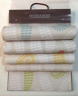 Rapture & Wright Wallpaper Collection Sample Assorted Pattern Swatch Book Paper