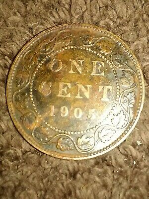 1905 Canada canadian Large Cent. ONE CENT
