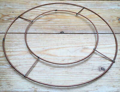 "8"" Flat Wire Wreath Ring/Frame/Copper Wire Ring/Christmas Holly Wreath/Funeral"