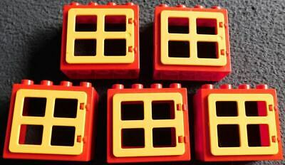 Red /& Yellow Window Frames Variety Style of Panes Lego DUPLO House Bricks