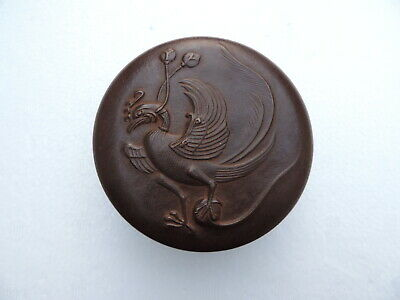 MASTERLY CRAFTED VINTAGE SIGNED JAPANESE BRONZE BONBONNIERE BOX 487 gr 17.55 OZ