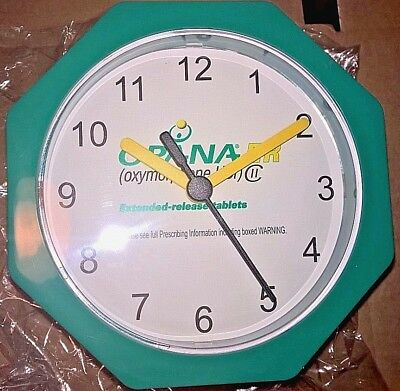 Banned Opana drug rep clock pharmaceutical  opioid pain killer advertising RARE