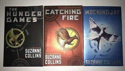 The Hunger Games Trilogy Paperback Boxed Book Lot Set By Suzanne Collins