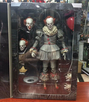 """7"""" NECA IT Ultimate Pennywise Clown Action Figure Movie Doll 2017 New Scale"""
