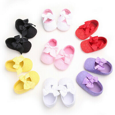Ribbon Baby Kids Hoes Soft Bowknot White Knitted Flower Toddler Girls Shoes HOT