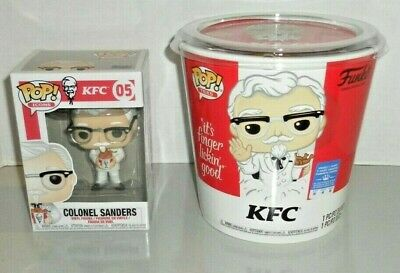 NEW Funko Exclusive Pop Ad Icons KFC Gold Colonel Sanders Tee Sz M & #05 Figure