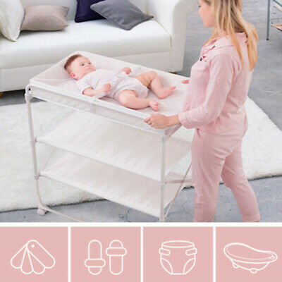 Diaper Table Baby Care Table Bathing Multifunction Touching Massage Bed