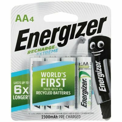 ENERGIZER RECHARGE EXTREMENiMH AA 2300mAh 1.2V - PACK OF 4 - NEW PACK