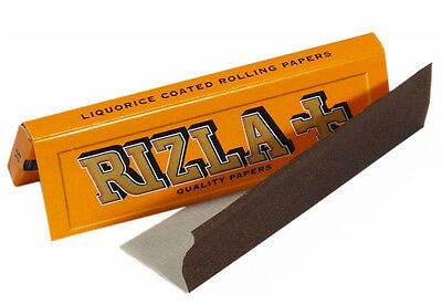 10 BOOKLETS RIZLA Rolling Papers Liquorice 500 PAPERS regular size