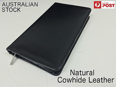 Cowhide Leather Passport Holder Premium Quality Business Travel Wallet