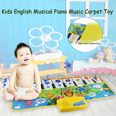 Kids English Musical Piano Music Carpet Play Mat  Educational Electronic Toy MT