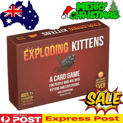 Exploding Kittens Original Edition Board Game Party Card Game Friends Xmas Gift