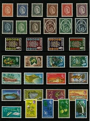 ST VINCENT Stamp COLLECTION  Early QEII Issues MINT Ref:QP569a