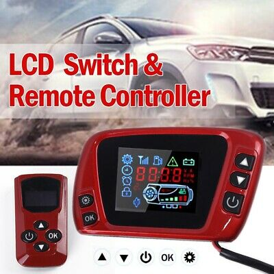 LCD Thermostat Display Switch W/ Remote Controller 12/24V For Diesel Air Heater
