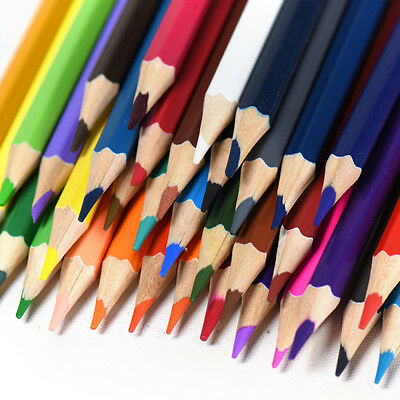 12 24 36Colors Non-toxic Drawing Wood Colored Pencils Set Painting Sketch Kit