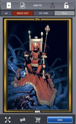 Topps Marvel Collect COMIC BOOK DAY GOLD Deadpool #1 LIMITED [DIGITAL CARD]