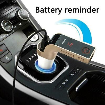 12V Wireless LCD Bluetooth Car MP3 FM Transmitter AUX Handsfree Charger USB V4X2
