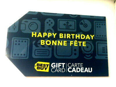 BEST BUY Canada DIE CUT Gift Card Brand New No Value Bilingual Maple