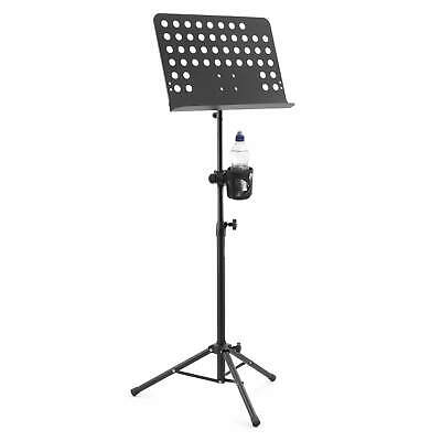 Tiger Orchestral Sheet Music Stand and Cup Holder with Height and Angle