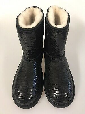 Ugg Classic Short Sparkles Girls Boots Size 4Uk