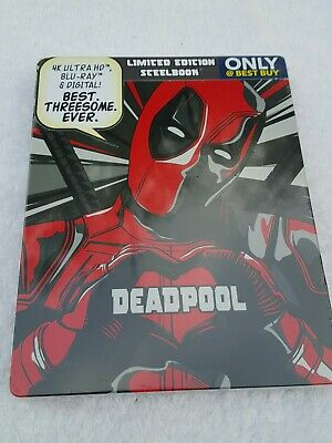 *Deadpool Steelbook 4K Uhd Bluray Limited Edition Rare New Sealed Free Shipping*