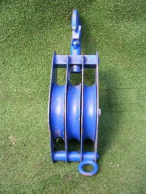 Pulley Block Lifting Pulley Triple Sheave Pulley For Wire Rope 1 Ton
