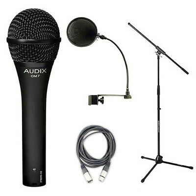 Audix OM7 Mic Bundle w/Mic Boom Stand, XLR Cable & Pop Filter Popper Stopper