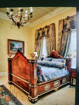 Early 1900's Louis xv French Style Antique Bed.