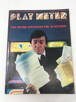 Play Meter Magazine March 1983 Pinball Video Games Annual Tax Strategies